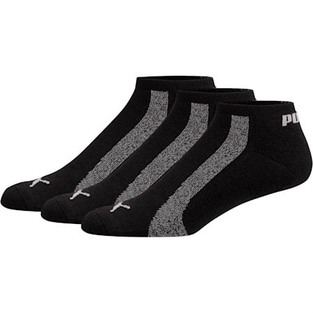 Men's No Show Socks [3 Pack], LIGHT PASTEL GREY, small